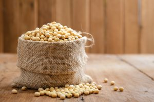 high protein sack of soy beans
