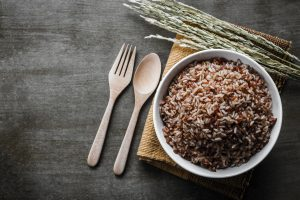 fiber rich cooked brown rice