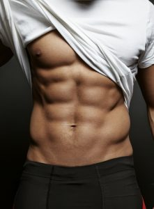 Progentra user showing his six pack abs