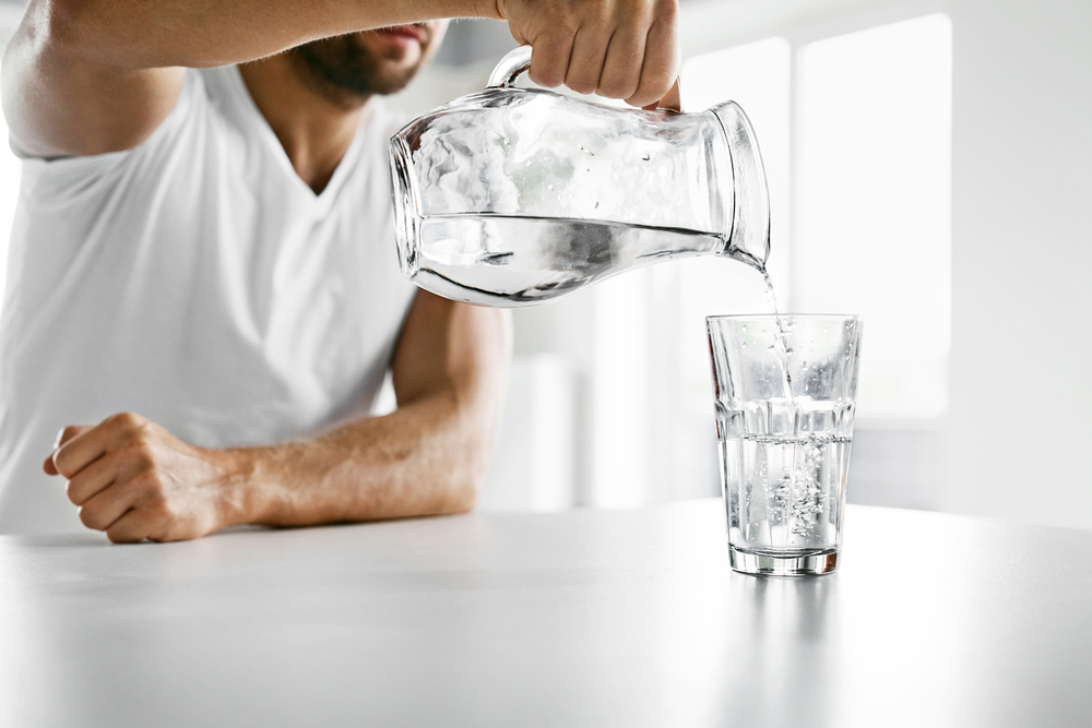 drinking lots of water