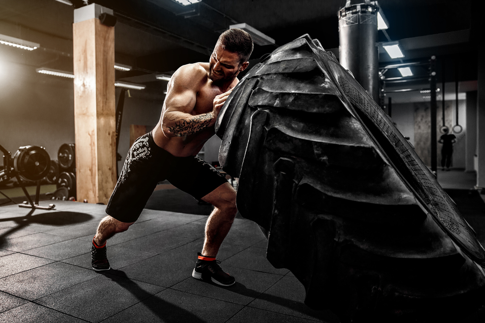 heavy tire gym workout