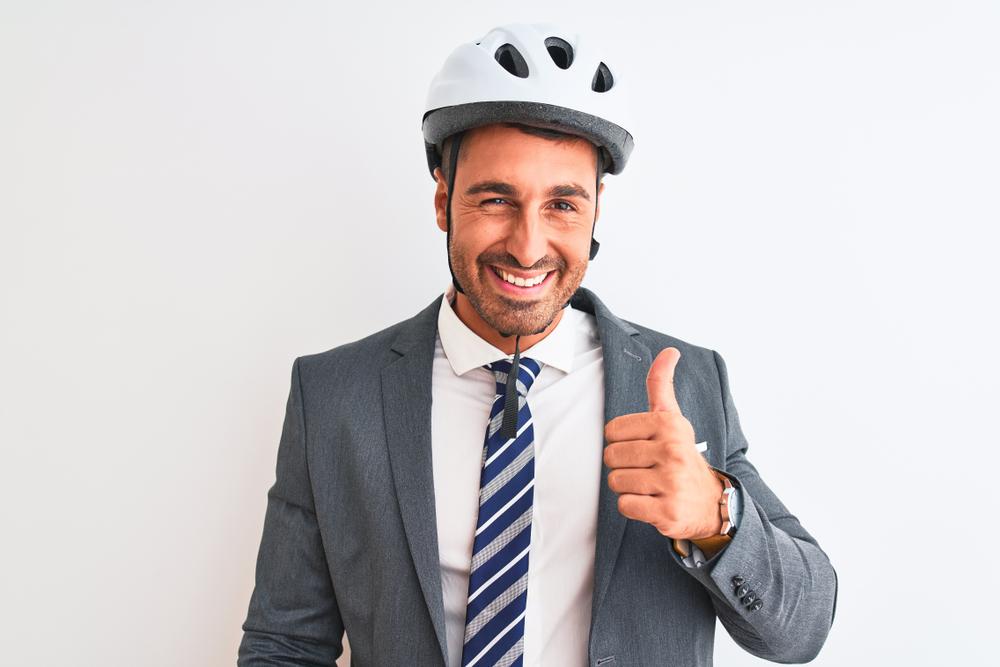 man doing thumbs up